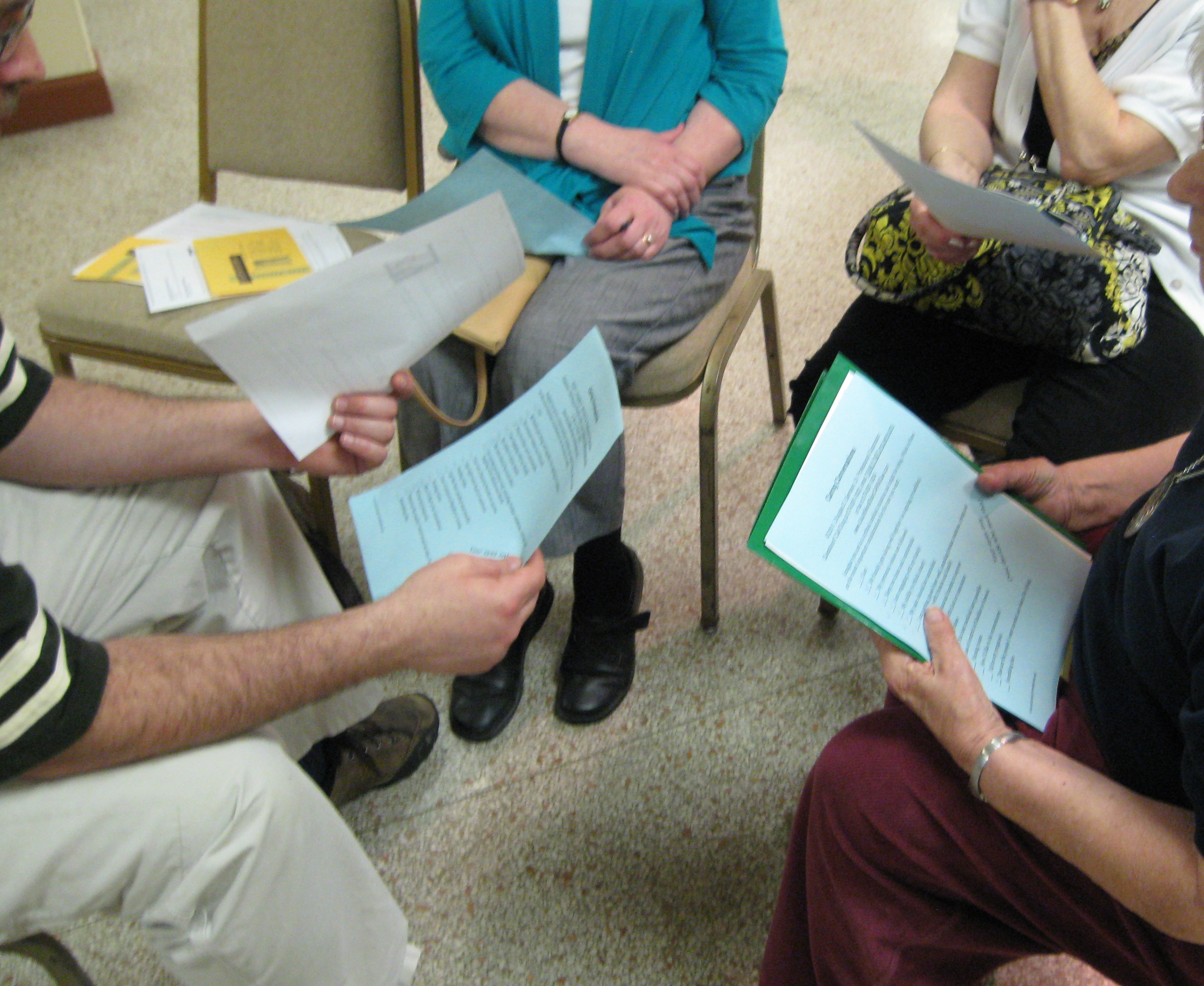 Cathedral of St James breakout group converses